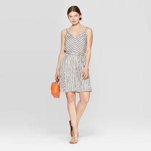 A New Day striped rayon dress sz Large